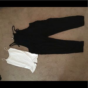 Light weight overalls with free people body suit